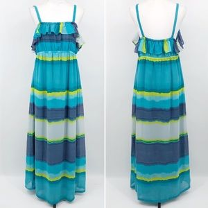 Old Navy Maternity Maxi Dress Striped Flounce XL